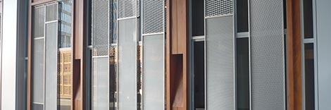 Recinzione metallica - Esempio di verniciatura industriale nel settore dell'architettura
