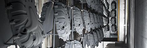 elementi nel corridoio per la verniciatura a polvere