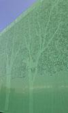 Composizione con pannelli microforati