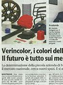Verincolor sul Giornale di Brescia